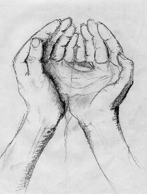 how to draw pictures of hands holding something